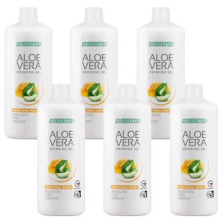 LR Aloe Vera Drinking Gel Traditional s medem Série 6 ks